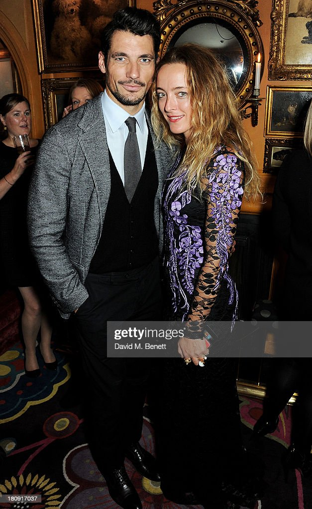 David Gandy (L) and <a gi-track='captionPersonalityLinkClicked' href=/galleries/search?phrase=Alice+Temperley&family=editorial&specificpeople=213399 ng-click='$event.stopPropagation()'>Alice Temperley</a> attend the Harper's Bazaar London Fashion Week SS14 closing party at Annabel's on September 17, 2013 in London, England.