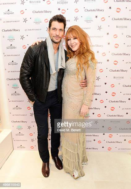 David Gandy and Charlotte Tilbury attend Charlotte Tilbury's naughty Christmas party celebrating the launch of Charlotte's new flagship beauty...