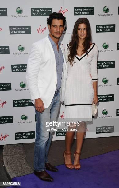 David Gandy and Chloe Pridham during the Ralph Lauren/Sony Ericsson WTA Tour preWimbledon Party at the Kensington Roof Gardens in London