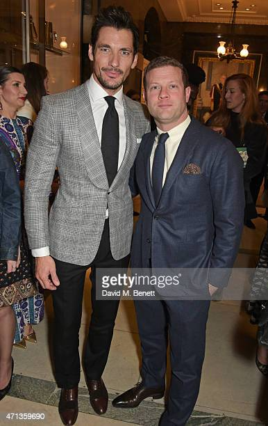 David Gandy and Dermot O'Leary attend the LDNY show and WIE Award gala sponsored by Maserati at Goldsmith Hall on April 27 2015 in London England