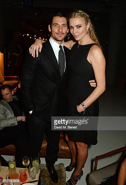 David Gandy and Jodie Kidd attend the Universal Music BRIT Awards AfterParty 2016 in collaboration with Soho House and BACARDI on February 24 2016 in...