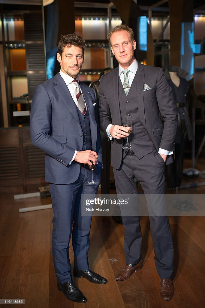 David Gandy and Joe Ottaway attend the after party of Belstaff s/s 2013 collection, as part of London Collections: MEN at 50 St James on June 16, 2012 in London, England.
