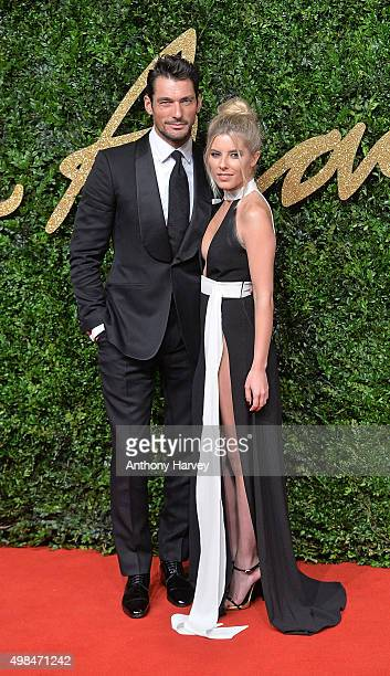 David Gandy and Mollie King attend the British Fashion Awards 2015 at London Coliseum on November 23 2015 in London England