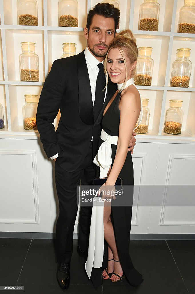 David Gandy and Mollie King attend the British Fashion Awards official afterparty hosted by St Martins Lane and sponsored by Ciroc Vodka at St...