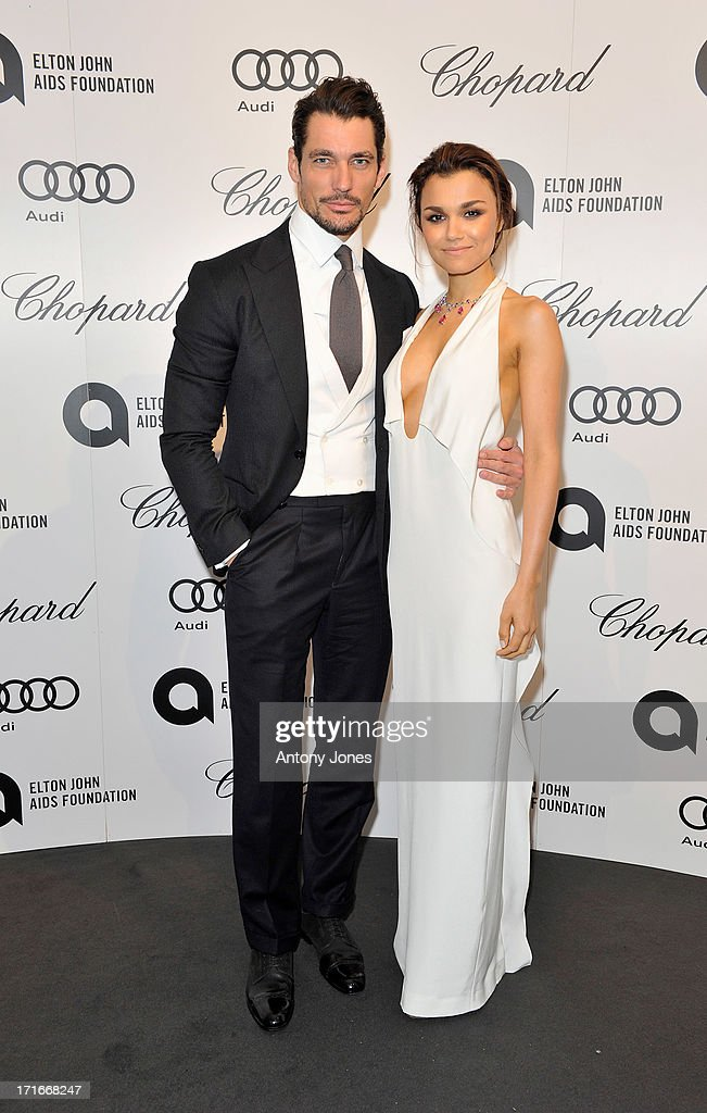 <a gi-track='captionPersonalityLinkClicked' href=/galleries/search?phrase=David+Gandy&family=editorial&specificpeople=4377663 ng-click='$event.stopPropagation()'>David Gandy</a> (L) and <a gi-track='captionPersonalityLinkClicked' href=/galleries/search?phrase=Samantha+Barks&family=editorial&specificpeople=7061893 ng-click='$event.stopPropagation()'>Samantha Barks</a> attend the 15th Annual White Tie and Tiara Ball to Benefit Elton John AIDS Foundation in Association with Chopard at Woodside on June 27, 2013 in Windsor, England. No sales to online/digital media worldwide until the 14th of July. No sales before July 14th, 2013 in UK, Spain, Switzerland, Mexico, Dubai, Russia, Serbia, Bulgaria, Turkey, Argentina, Chile, Peru, Ecuador, Colombia, Venezuela, Puerto Rico, Dominican Republic, Greece, Canada, Thailand, Indonesia, Morocco, Malaysia, India, Pakistan, Nigeria. All pictures are for editorial use only and mention of 'Chopard' and 'The Elton John Aids Foundation' are compulsory. No sales ever to Ok, Now, Closer, Reveal, Heat, Look or Grazia magazines in the United Kingdom. No sales ever to any jewellers or watchmakers other than Chopard