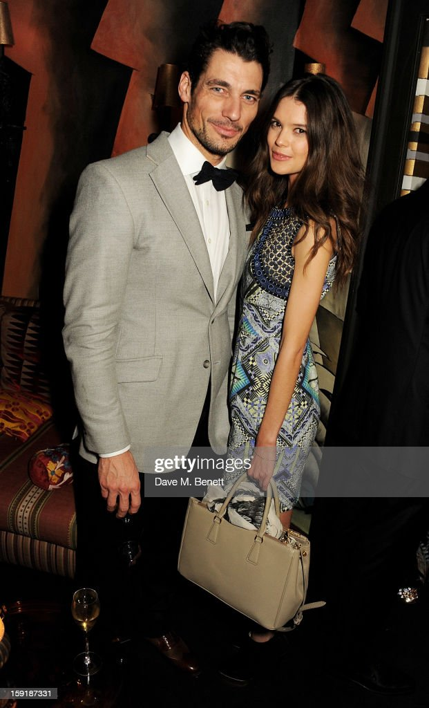 <a gi-track='captionPersonalityLinkClicked' href=/galleries/search?phrase=David+Gandy&family=editorial&specificpeople=4377663 ng-click='$event.stopPropagation()'>David Gandy</a> (L) and Sarah Ann Macklin attend a private dinner hosted by Tom Ford to celebrate his runway show during London Collections: MEN AW13 at Loulou's on January 9, 2013 in London, England.