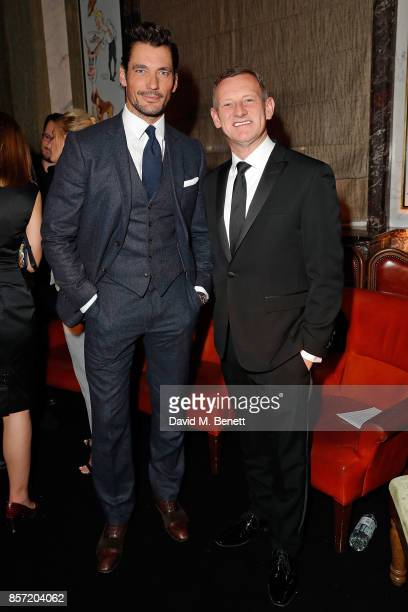 David Gandy and Steve Rowe attend the MS Tailoring Talk on October 3 2017 in London England