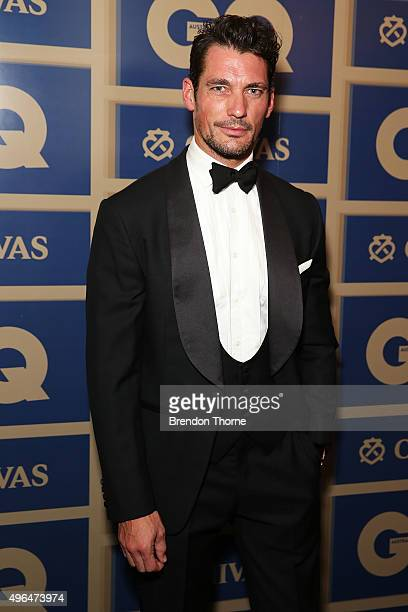 David Gandy arrives ahead of the 2015 GQ Men Of The Year Awards on November 10 2015 in Sydney Australia