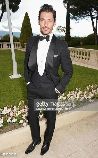 David Gandy arrives at amfAR's 22nd Cinema Against AIDS Gala Presented By Bold Films And Harry Winston at Hotel du CapEdenRoc on May 21 2015 in Cap...