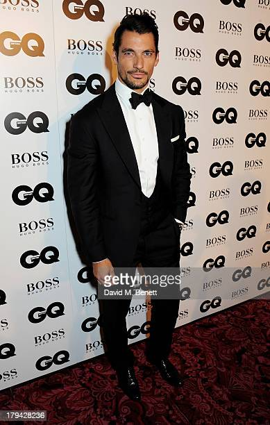 David Gandy arrives at the GQ Men of the Year awards at The Royal Opera House on September 3 2013 in London England