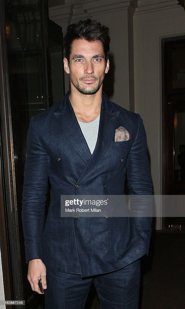 David Gandy at the TK Maxx fundraising cocktail party at the Royal Opera House on February 28, 2013 in London, England.