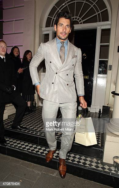 David Gandy attending a Jo Malone party at the Jo Malone HQ on April 23 2015 in London England