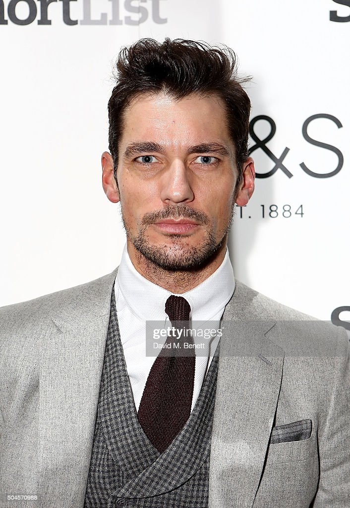 David Gandy attends a reception hosted by Marks & Spencer and ShortList Magazine to celebrate London Collections Men AW16 at Rosewood London on January 11, 2016 in London, England.