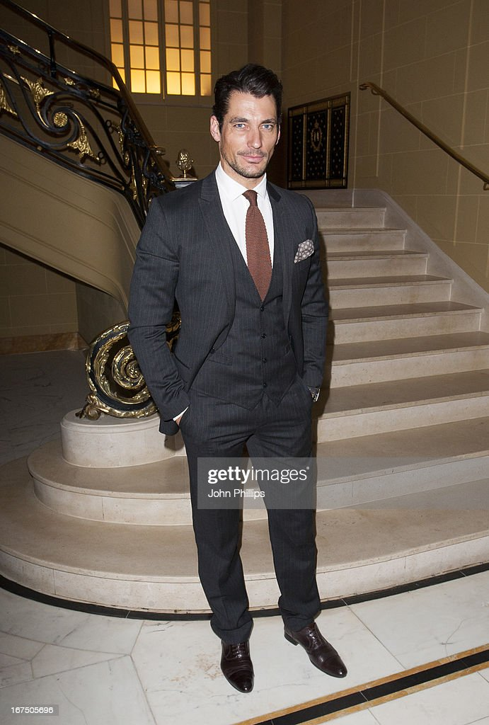 David Gandy attends a Vogue dinner hosted by Alexandra Shulman in honour of Michael Kors at Cafe Royal on April 25, 2013 in London, England.