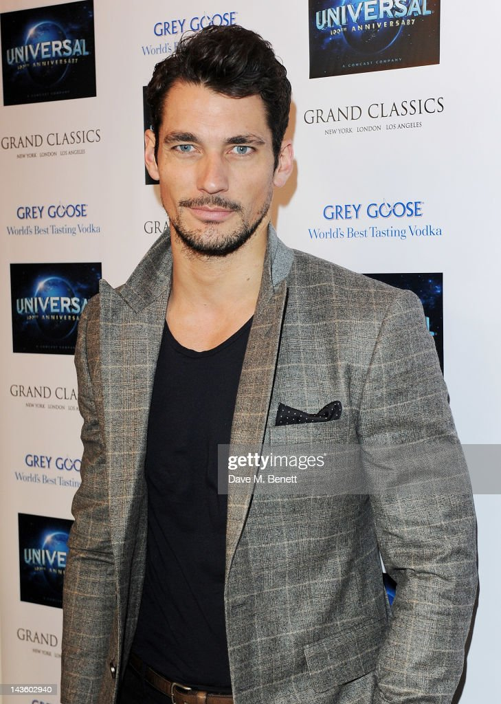 David Gandy attends as Grand Classics Richard Curtis and Grey Goose celebrate 100 years of Universal Pictures' greatest films with a special...