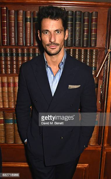 David Gandy attends Burns Night with Copper Dog Whisky at Alberts on January 25 2017 in London England