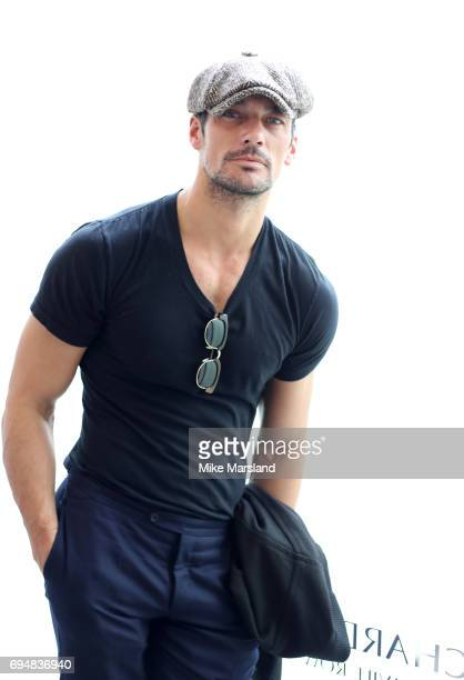 David Gandy attends London Fashion Week Men's June 2017 collections on June 11 2017 in London England