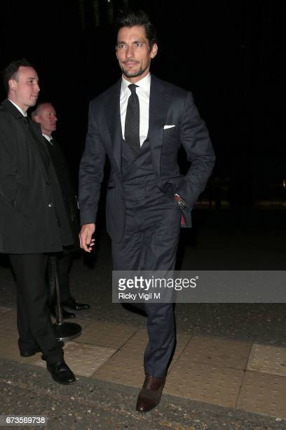 David Gandy attends Lost In Space anniversary party at Tate Modern to mark the 60th anniversary of Speedmaster on April 26 2017 in London England