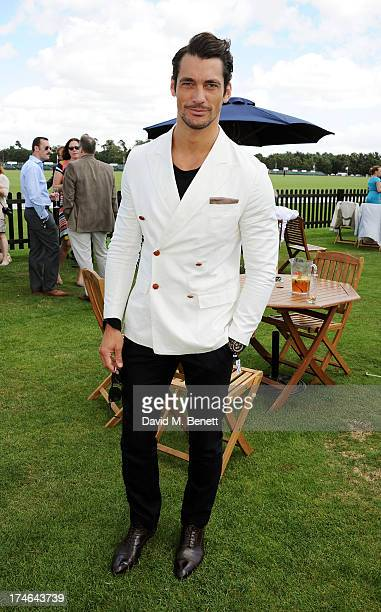 David Gandy attends the Boujis tent at the Audi International Polo day at Guards Polo Club on July 28 2013 in Egham England