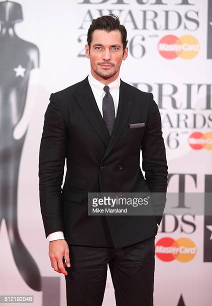 David Gandy attends the BRIT Awards 2016 at The O2 Arena on February 24 2016 in London England