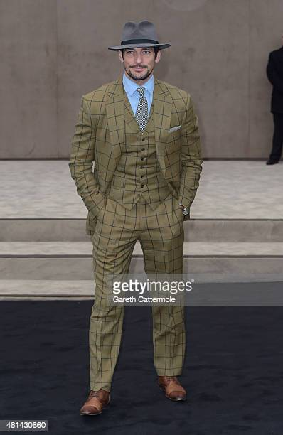 David Gandy attends the Burberry Prorsum AW15 London Collections Men at Kensington Gardens on January 12 2015 in London England