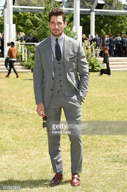 David Gandy attends the Burberry Prorsum show during The London Collections Men SS16 at on June 15 2015 in London England