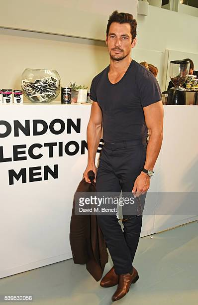 David Gandy attends the Christopher Raeburn show during The London Collections Men SS17 at BFC Show Space on June 12 2016 in London England