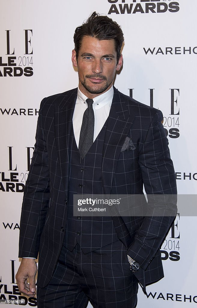 <a gi-track='captionPersonalityLinkClicked' href=/galleries/search?phrase=David+Gandy&family=editorial&specificpeople=4377663 ng-click='$event.stopPropagation()'>David Gandy</a> attends the Elle Style Awards 2014 at one Embankment on February 18, 2014 in London, England.