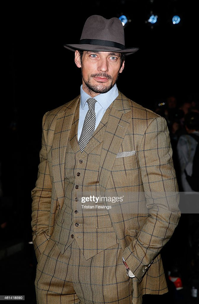 David Gandy attends the E.Tautz show at the London Collections: Men AW15 at on January 12, 2015 in London, England.