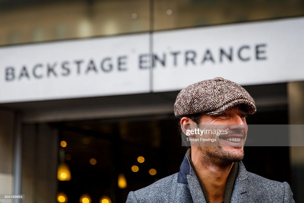 David Gandy attends the ETautz show during The London Collections Men AW16 at 180 The Strand on January 9 2016 in London England