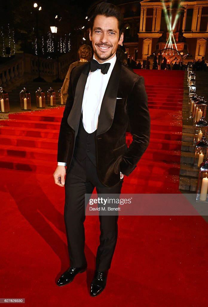 David Gandy attends The Fashion Awards 2016 at Royal Albert Hall on December 5, 2016 in London, United Kingdom.