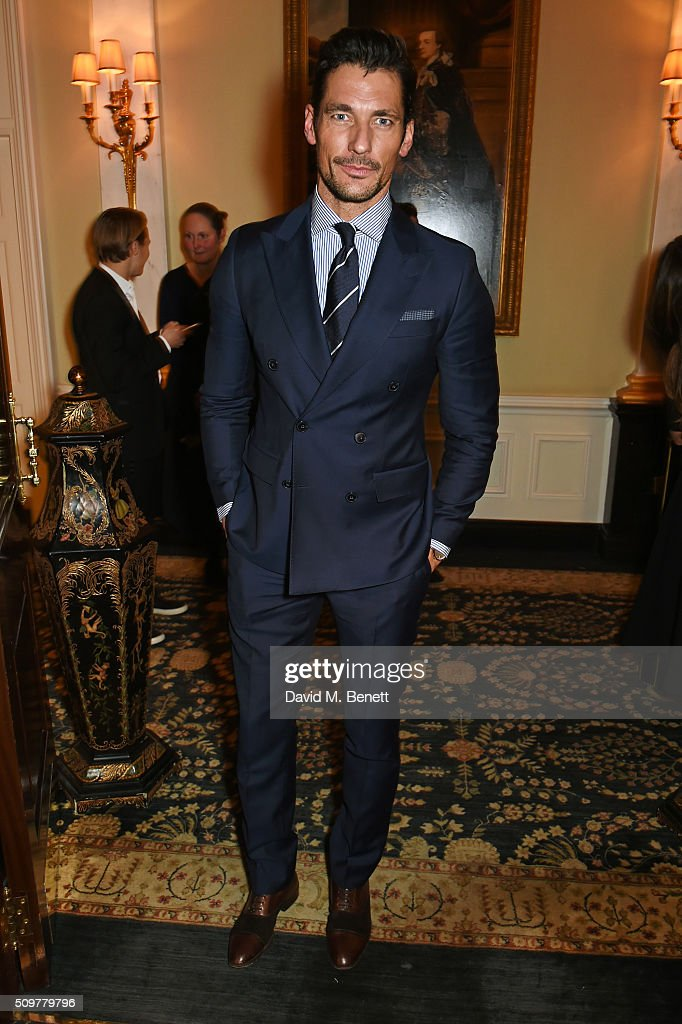 <a gi-track='captionPersonalityLinkClicked' href=/galleries/search?phrase=David+Gandy&family=editorial&specificpeople=4377663 ng-click='$event.stopPropagation()'>David Gandy</a> attends the GQ and Hackett Pre-BAFTA party, celebrating Hackett's fifth year as the Official Menswear Stylist to the EE British Academy Film Awards, at The Savoy Hotel on February 12, 2016 in London, England.