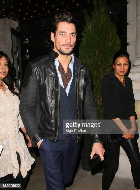 David Gandy attends the GUESS Loves Priyanka VIP Dinner at the London Edition Hotel on January 20 2014 in London England