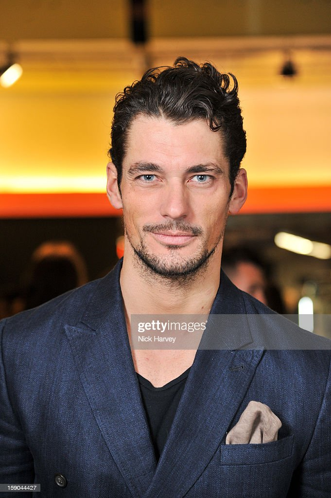 David Gandy attends the launch of 1205 Paula Gerbase Hosted By Harvey Nichols ahead of the London Collections: MEN AW13 at on January 6, 2013 in London, England.