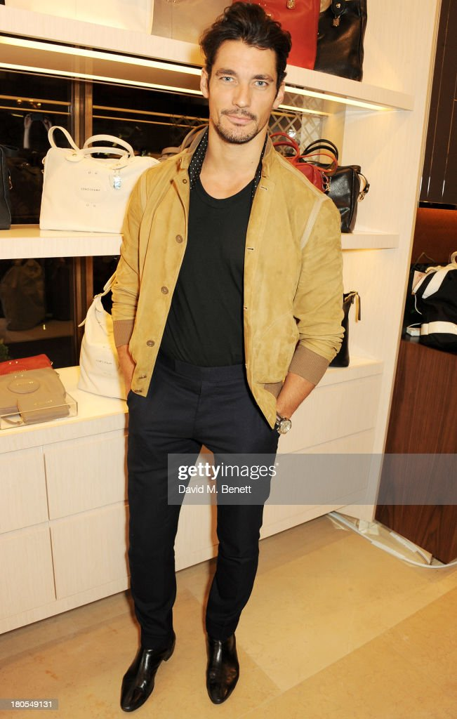 David Gandy attends the launch of the Longchamp London flagship store on September 14, 2013 in London, England.