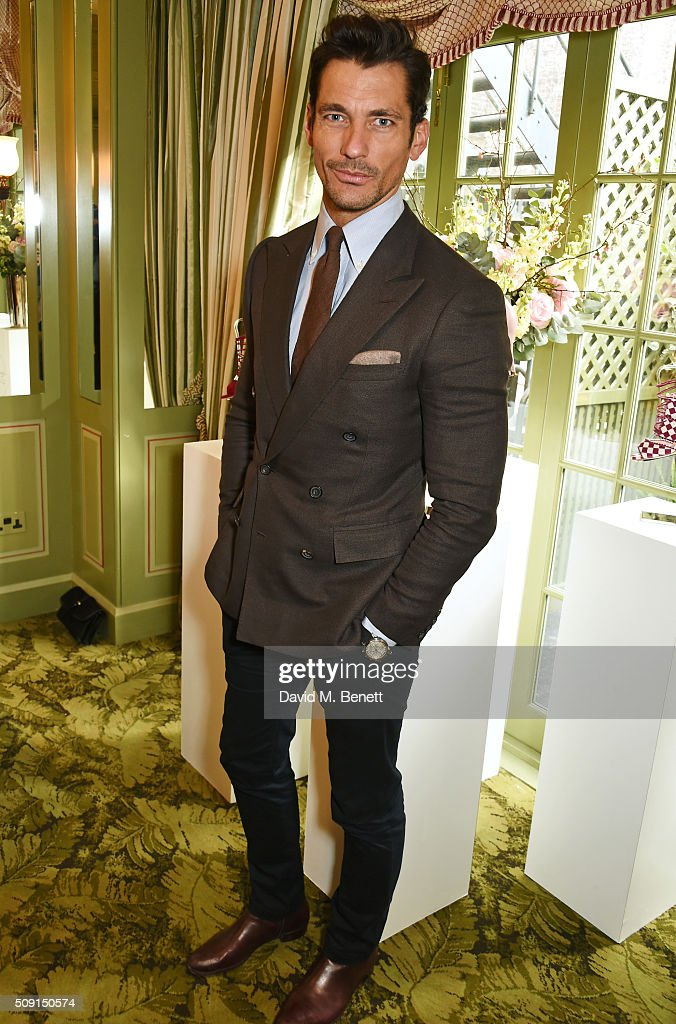 David Gandy attends the LKBennett x Bionda Castana lunch at Mark's Club on February 9 2016 in London England