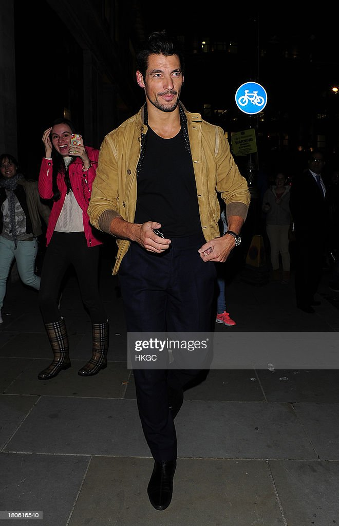 David Gandy attends The Longchamp flagship store launch party on September 14, 2013 in London, England.