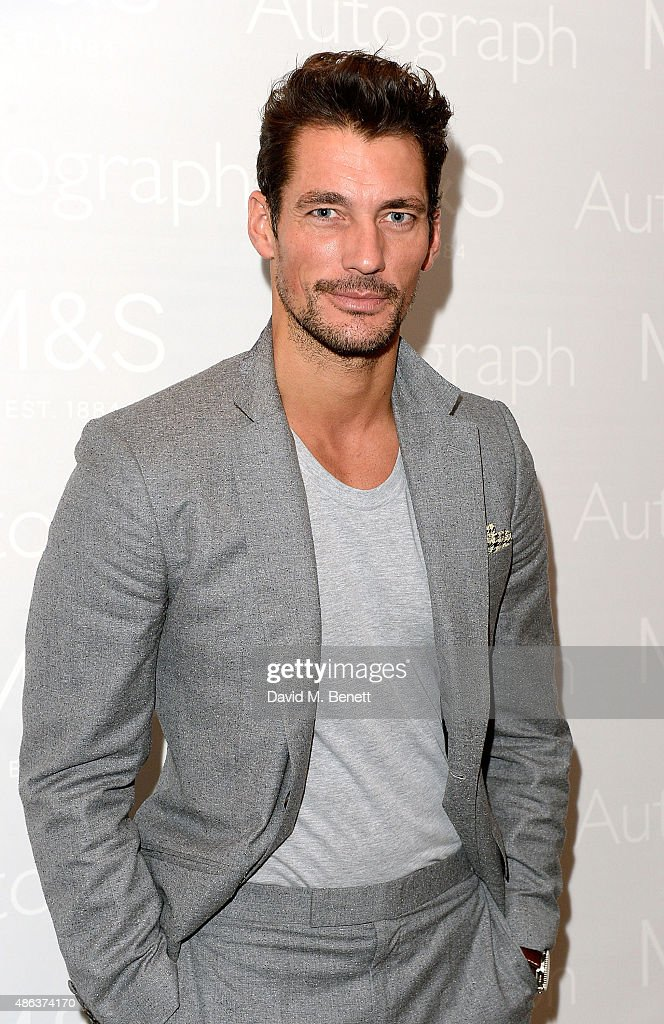 David Gandy attends the Marks & Spencer party to launch Oliver Cheshire as the Face of Autograph Menswear on September 3, 2015 in London, England.