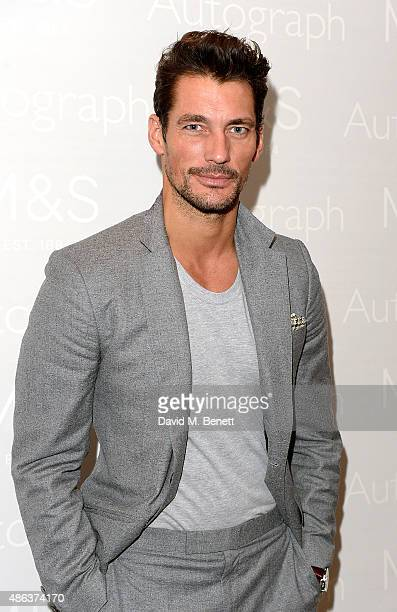 David Gandy attends the Marks Spencer party to launch Oliver Cheshire as the Face of Autograph Menswear on September 3 2015 in London England
