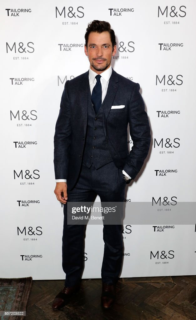 David Gandy attends the M&S Tailoring Talk on October 3, 2017 in London, England.