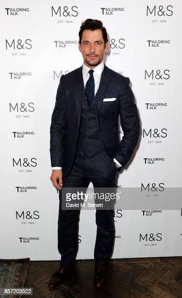 David Gandy attends the MS Tailoring Talk on October 3 2017 in London England