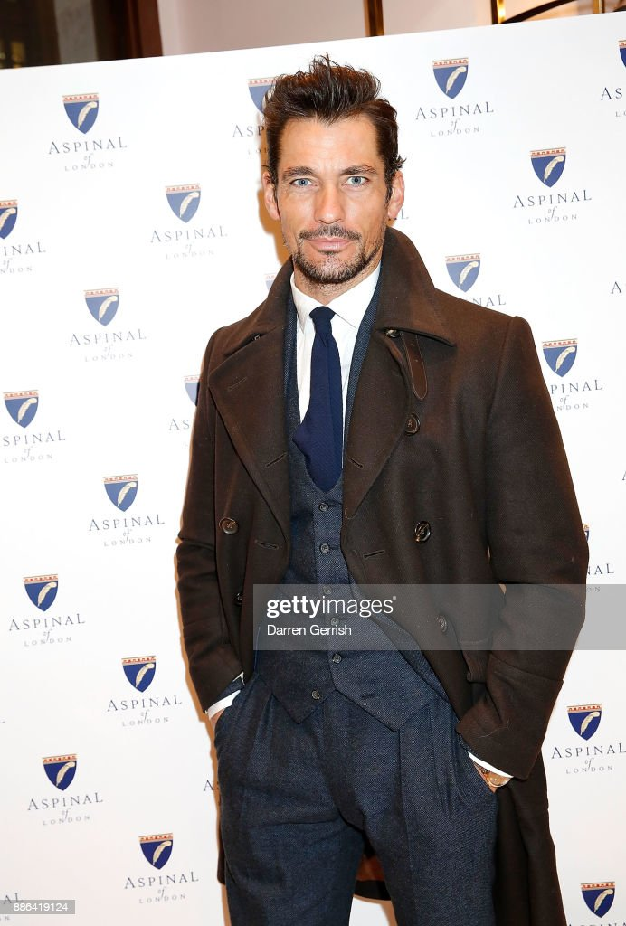 David Gandy attends the new flagship store launch of Aspinal on Regent's Street St. James's on December 5, 2017 in London, England.