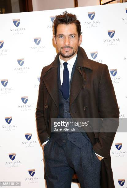 David Gandy attends the new flagship store launch of Aspinal on Regent's Street St James's on December 5 2017 in London England