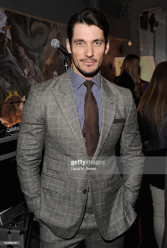 USE. David Gandy attends The Right To Play host a private dinner for Barry the Dog fitness trainer ahead of his husky expedition across the Arctic at 3 Cromwell Road on March 26, 2013 in London, England.