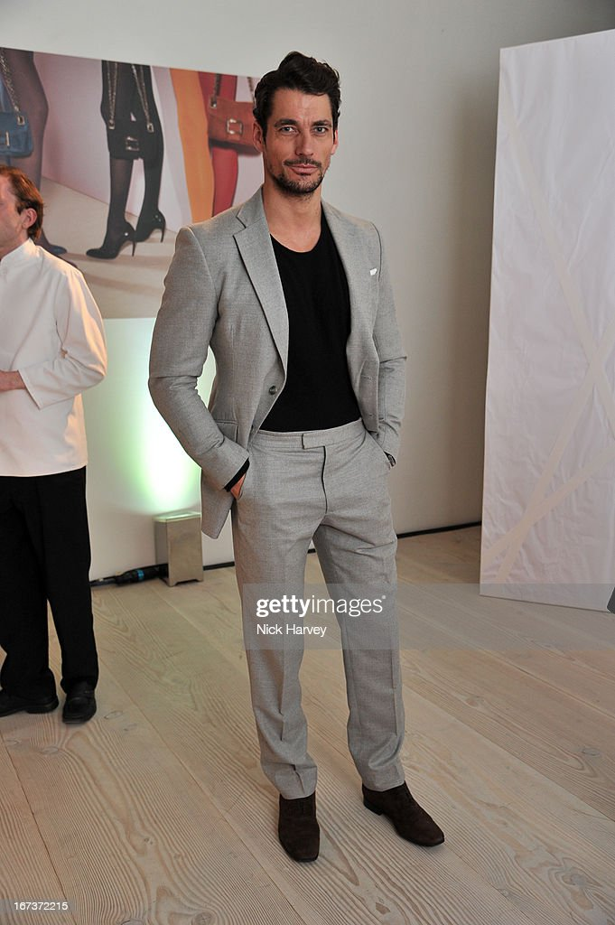 <a gi-track='captionPersonalityLinkClicked' href=/galleries/search?phrase=David+Gandy&family=editorial&specificpeople=4377663 ng-click='$event.stopPropagation()'>David Gandy</a> attends the Roger Vivier book launch party at Saatchi Gallery on April 24, 2013 in London, England.