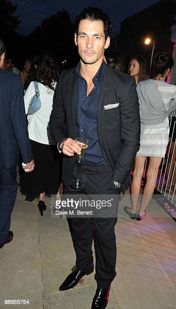 David Gandy attends the Serpentine Gallery Summer Party at The Serpentine Gallery on July 9 2009 in London England