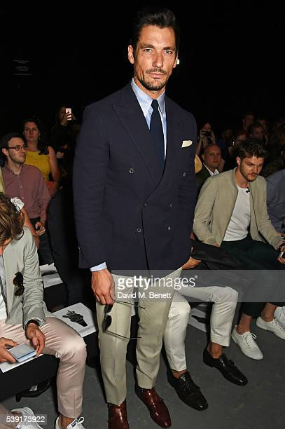 David Gandy attends the TOPMAN Design show during The London Collections Men SS17 at the Topman Show Space on June 10 2016 in London England