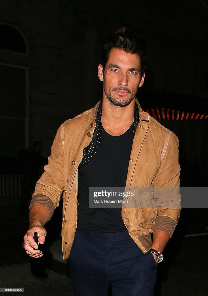 David Gandy attends the W Magazine September issue party at The London EDITION hotel on September 14, 2013 in London, England.