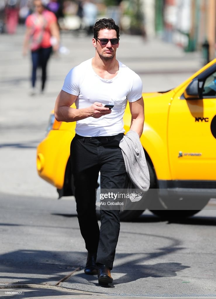 David Gandy is seen in Soho on April 8, 2013 in New York City.