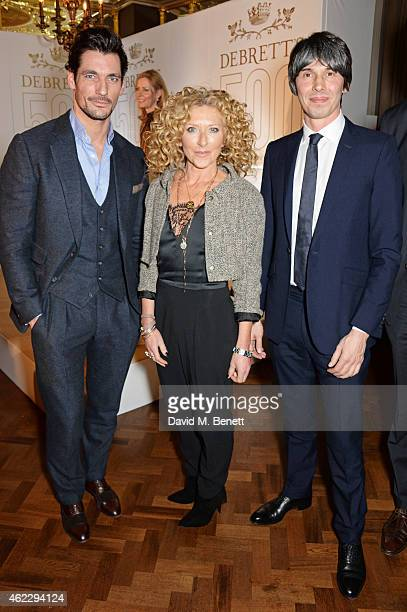 David Gandy Kelly Hoppen and Brian Cox attend Debrett's 500 party hosted at The Club at Cafe Royal on January 26 2015 in London England The Debrett's...
